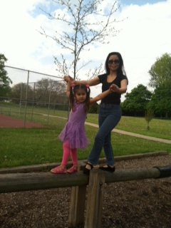 Walking on the Balance Beam at Buhr Park