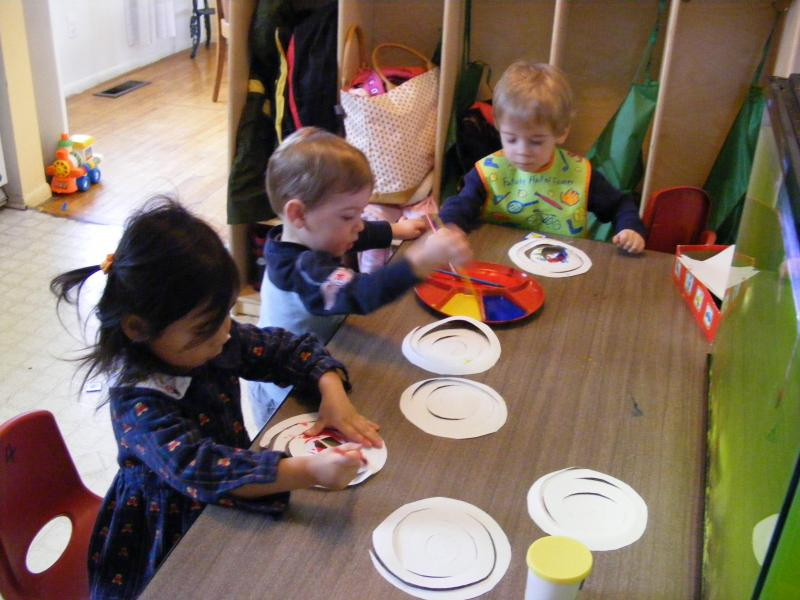 The children in May's Preschool are often exposed to all kinds of art experiences to promote their motor, cognitive, and socio-emotional development.
